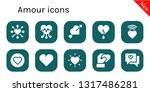 amour icon set. 10 filled amour ... | Shutterstock .eps vector #1317486281