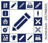writer icon set. 17 filled...   Shutterstock .eps vector #1317488231