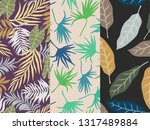 set of three tropical...   Shutterstock .eps vector #1317489884