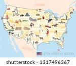 travel illustration map concept ... | Shutterstock .eps vector #1317496367