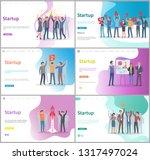 startup development of new... | Shutterstock .eps vector #1317497024