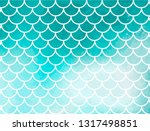 turquoise mermaid scales. fish... | Shutterstock .eps vector #1317498851