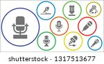 vocal icon set. 9 filled vocal...   Shutterstock .eps vector #1317513677