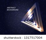 metal triangles sparkle on the... | Shutterstock .eps vector #1317517004