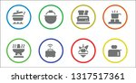 stove icon set. 8 filled stove... | Shutterstock .eps vector #1317517361