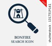search bonfire icon. editable... | Shutterstock .eps vector #1317519161