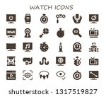 watch icon set. 30 filled watch ... | Shutterstock .eps vector #1317519827