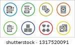 chance icon set. 8 filled... | Shutterstock .eps vector #1317520091