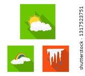 vector design of weather and... | Shutterstock .eps vector #1317523751
