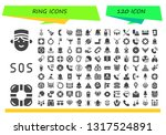 ring icon set. 120 filled ring... | Shutterstock .eps vector #1317524891