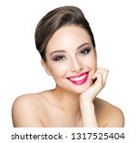 portrait of a gorgeous brunette ... | Shutterstock . vector #1317525404