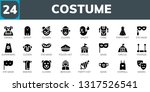 costume icon set. 24 filled... | Shutterstock .eps vector #1317526541