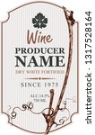 vector wine label with... | Shutterstock .eps vector #1317528164