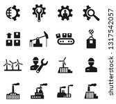 set of icons the industry. a... | Shutterstock .eps vector #1317542057