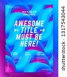 modern abstract cover design... | Shutterstock .eps vector #1317543044