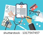 medical object poster with blue ...   Shutterstock .eps vector #1317547457