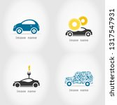 set of icons of cars. a vector... | Shutterstock .eps vector #1317547931