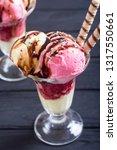 ice creeam in sundae ....   Shutterstock . vector #1317550661
