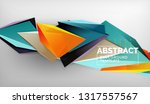3d geometric triangular shapes... | Shutterstock .eps vector #1317557567