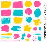 paint brush strokes  grunge... | Shutterstock .eps vector #1317558071