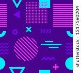 memphis style seamless pattern | Shutterstock .eps vector #1317560204