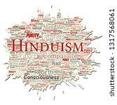 vector conceptual hinduism ... | Shutterstock .eps vector #1317568061