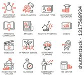 vector set of linear icons... | Shutterstock .eps vector #1317568934