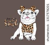 cute french bulldog in a... | Shutterstock .eps vector #1317578201