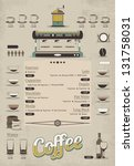 coffee info graphic | Shutterstock .eps vector #131758031