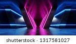 futuristic retro neon dance... | Shutterstock . vector #1317581027