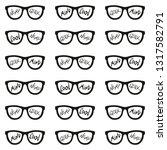set of eyeglasses with...   Shutterstock .eps vector #1317582791