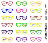 set of eyeglasses with...   Shutterstock .eps vector #1317582794