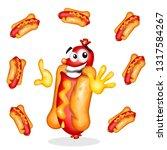 fast food sandwich shop where...   Shutterstock . vector #1317584267