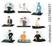 set of dj characters mixing...   Shutterstock .eps vector #1317588257