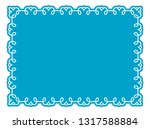 vector blue border frame. may... | Shutterstock .eps vector #1317588884