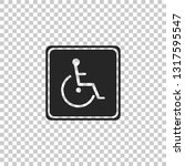 disabled handicap icon isolated ...   Shutterstock .eps vector #1317595547