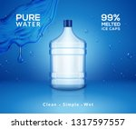 water bottle mineral background.... | Shutterstock .eps vector #1317597557