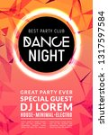 abstract disco dance night... | Shutterstock .eps vector #1317597584