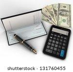 a photo of a check book ... | Shutterstock . vector #131760455