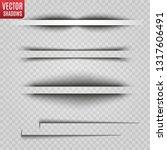 vector shadows isolated.... | Shutterstock .eps vector #1317606491