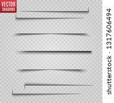 vector shadows isolated.... | Shutterstock .eps vector #1317606494