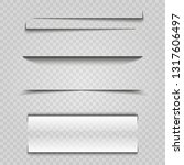 vector shadows isolated.... | Shutterstock .eps vector #1317606497