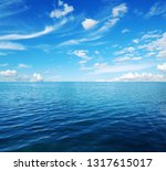 blue sea water surface on sky   Shutterstock . vector #1317615017