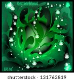 style sea  water and seaweed. a ... | Shutterstock .eps vector #131762819