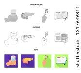 vector design of diet and... | Shutterstock .eps vector #1317649811