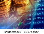 financial data on a monitor.... | Shutterstock . vector #131765054