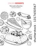 italian dessert vector...   Shutterstock .eps vector #1317650567
