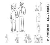 vector design of happy  and... | Shutterstock .eps vector #1317650867