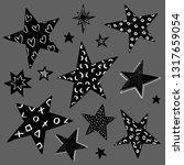 set of black and white hand... | Shutterstock .eps vector #1317659054