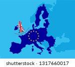 brexit referendum uk concept  ... | Shutterstock .eps vector #1317660017